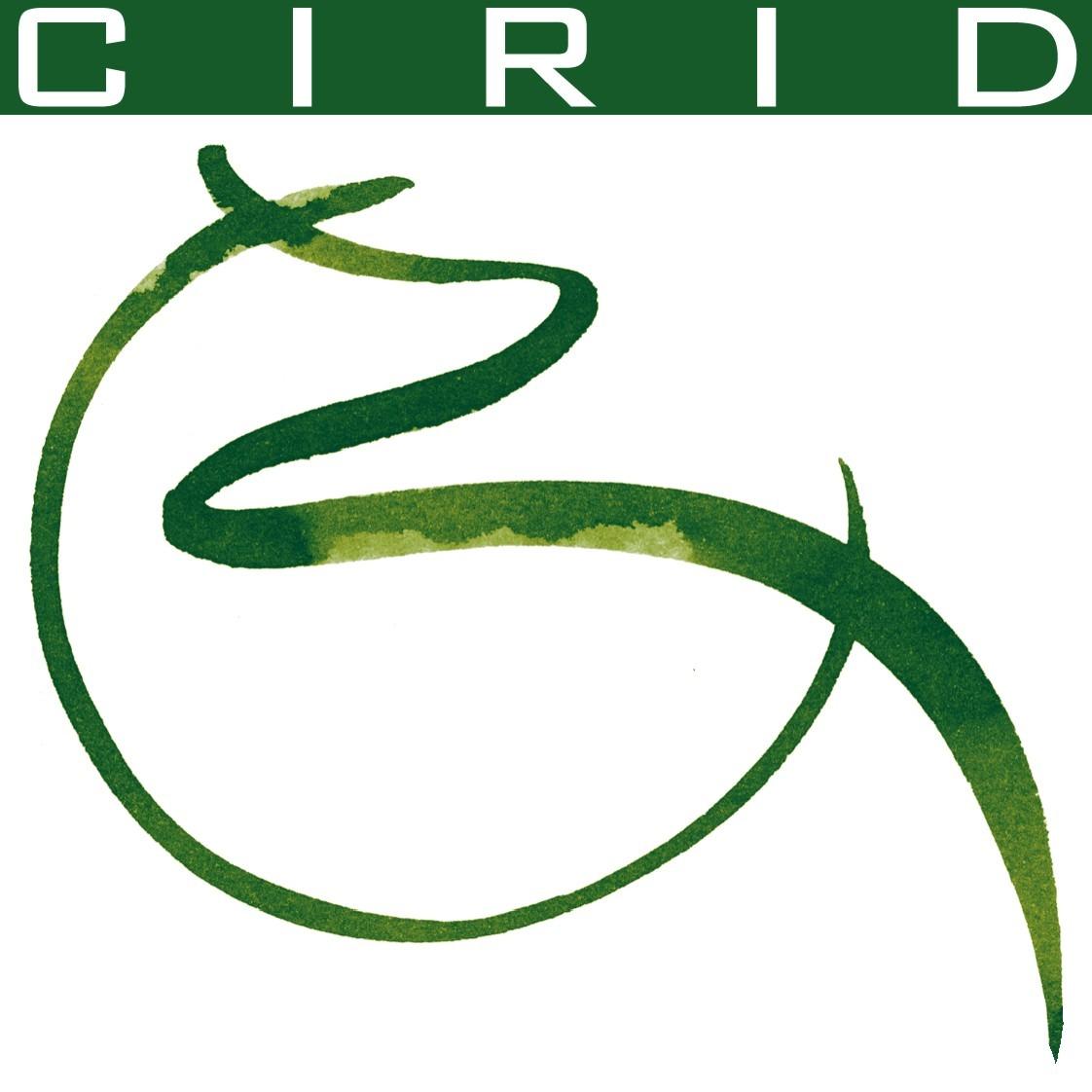 """Logo CIRID Rappresentante una lettera """"C"""" verde tagliata da una linea verde ondulata"""