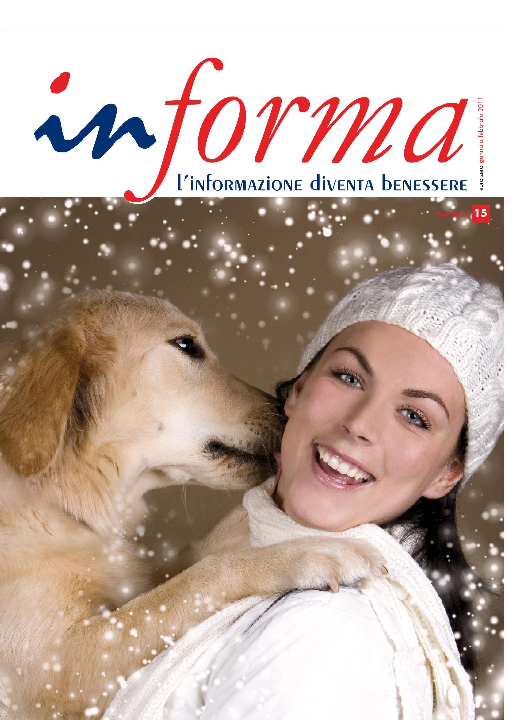 La copertina rappresenta un cane di razza golden retriever che lecca il viso di una donna con i capelli lunghi neri ed un capello bianco invernale