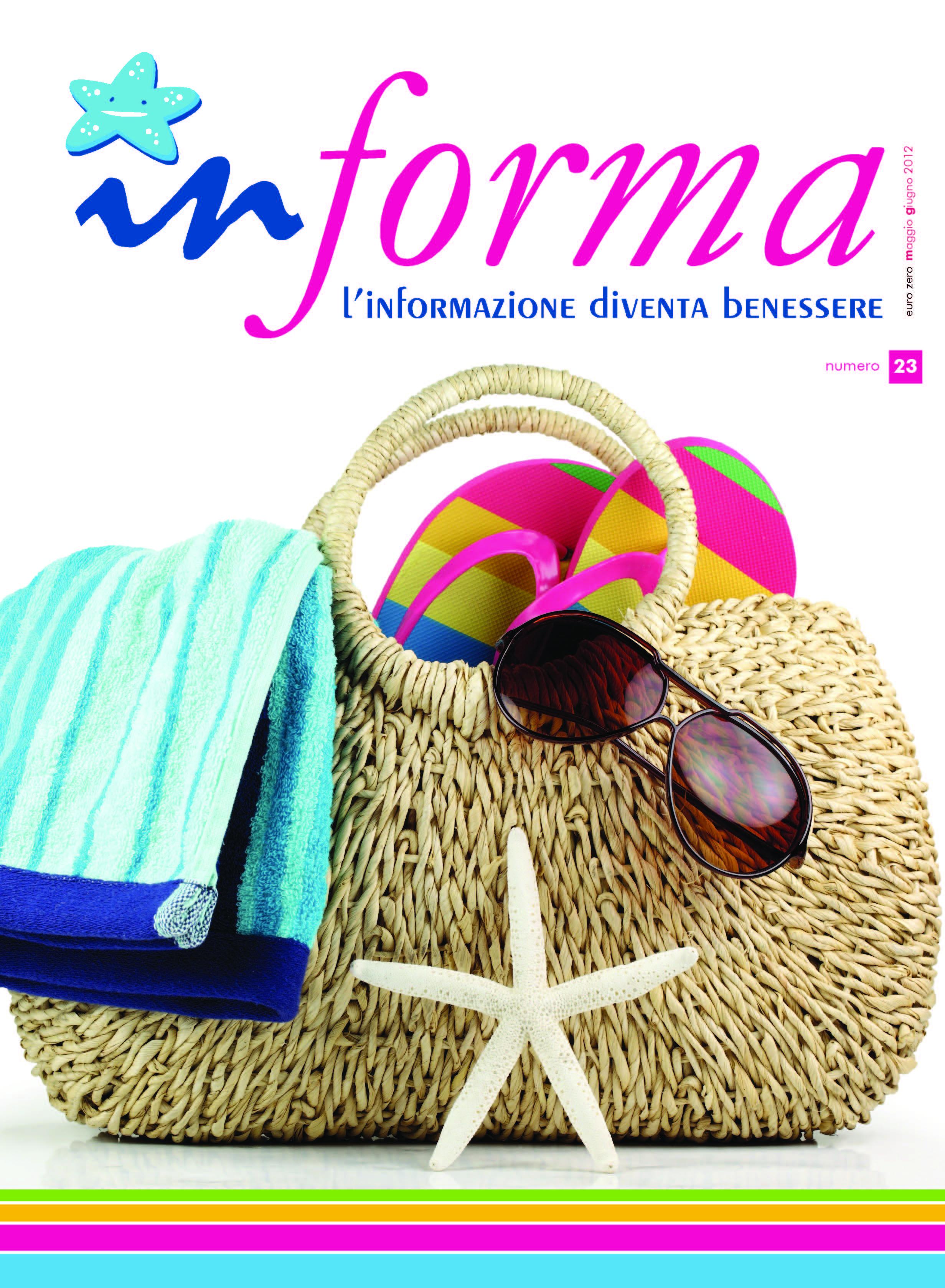 La copertina rappresenta su uno sfondo bianco in primo piano una borsa mare in paglia con una stella marina biacca davanti, e all'interno un telo da mare con con bande di clu e celeste, delle infradito multicolore dal rosa acceso al giallo, e degli occhiali da sole