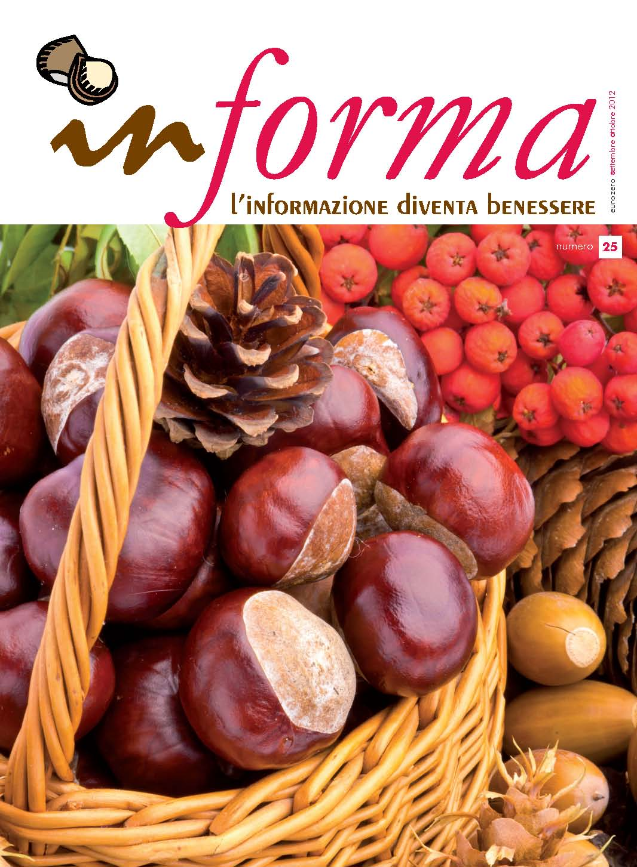 La copertina rappresenta un cesto di castagne in primo piano su uno sfondo di frutti arancioni