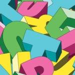 Lettere dell'alfabeto mescoate fra loro