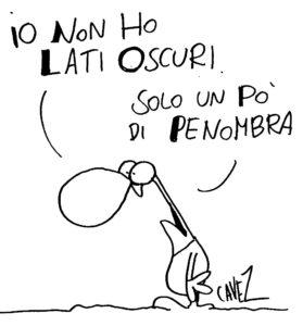 Fumetto di Cavezzali: Io non ho lati oscuri solo un po' di penombra